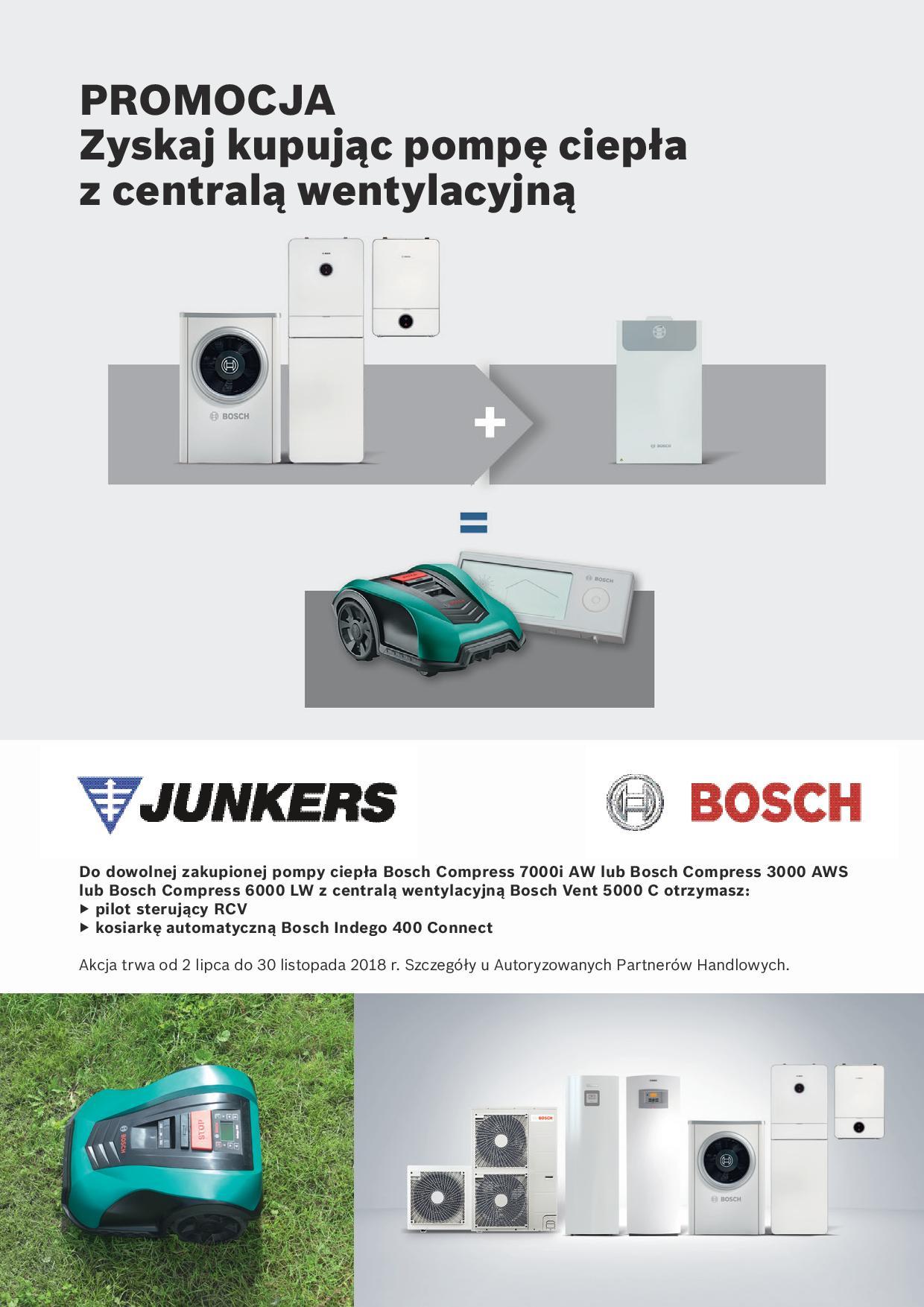 JUNKERS-BOSCH - promocja pompa ciepła do c.o. z centralą wentylacyjną