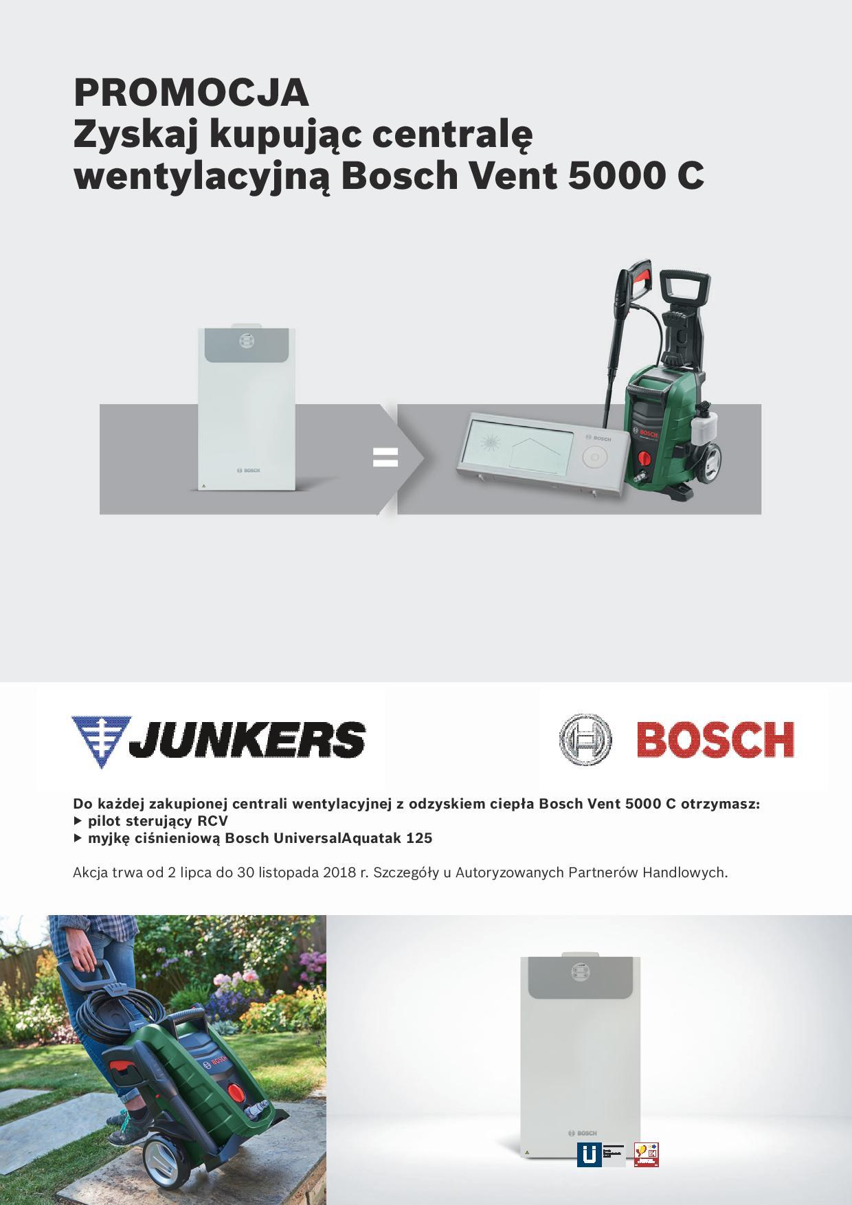 JUNKERS-BOSCH - promocja centrala wentylacyjna z odzyskiem ciepła