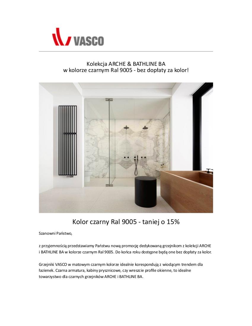 Ponadczasowa i elegancka Czerń, nowa Promocja VASCO