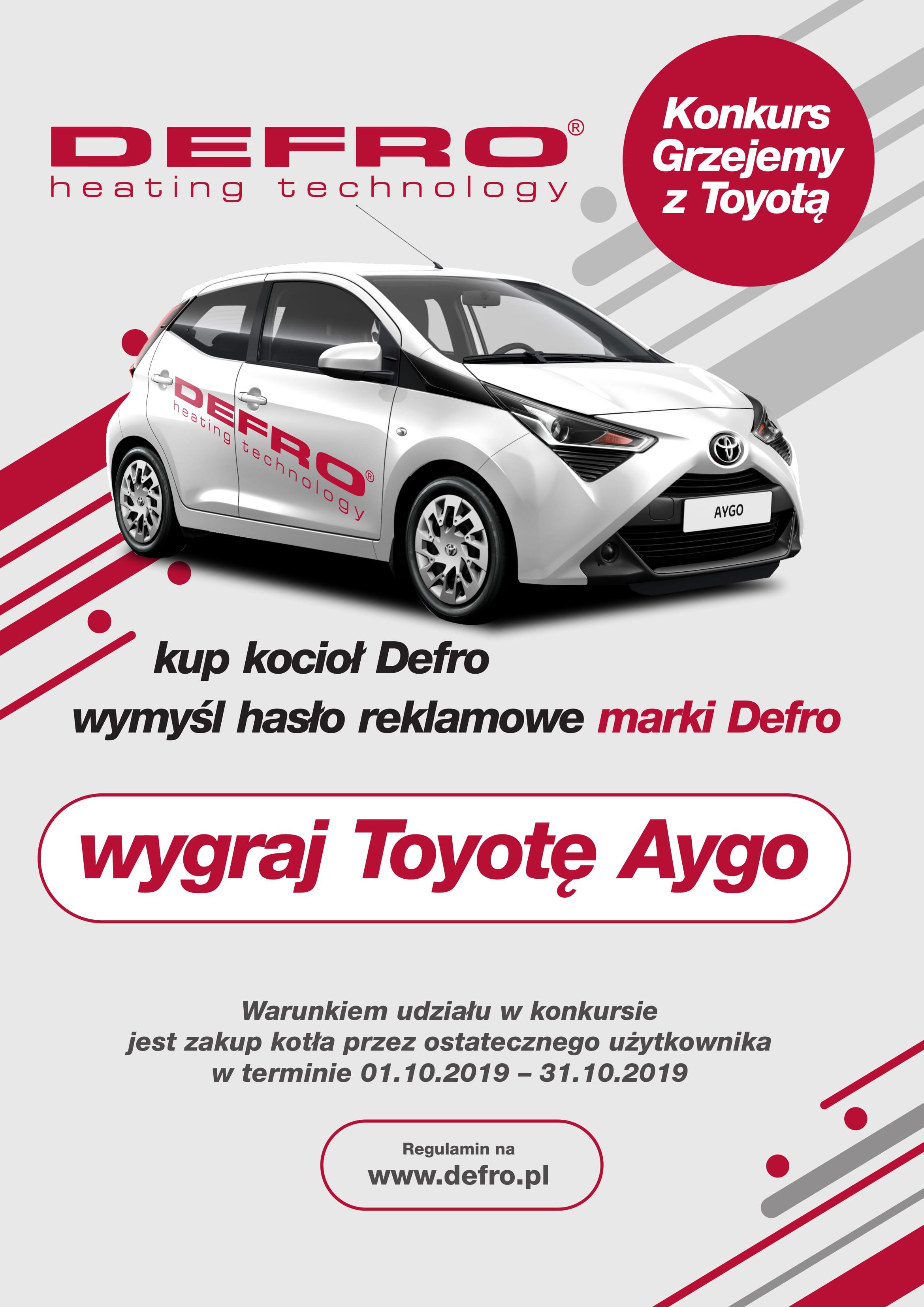 DEFRO - Konkurs Grzejemy z Toyotą