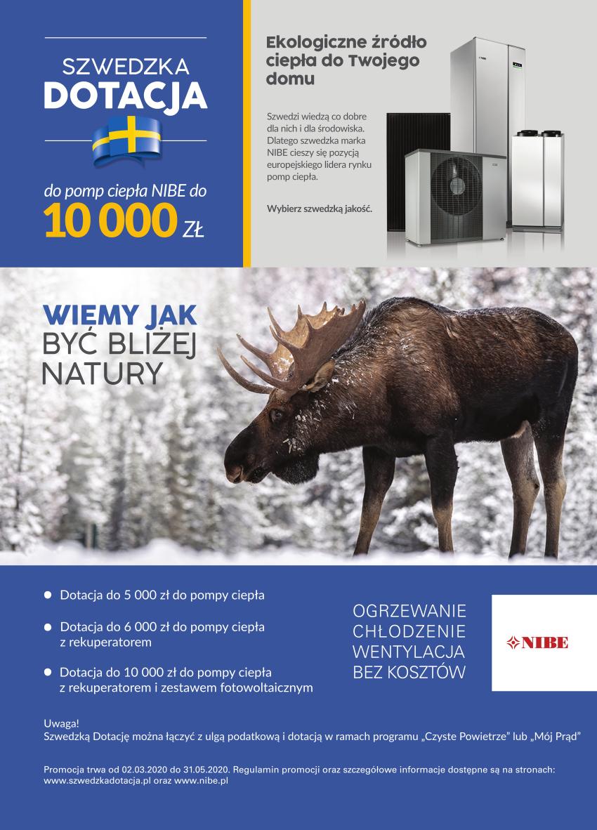 Szwedzka dotacja do pomp ciepła NIBE do 10000 zł